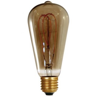 Ampoule Edison Filament Led LOOPS 4 W Finition Smoky