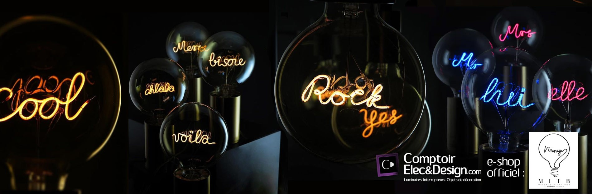 Message In The Bulb en vente sur Comptoir Elec & Design ®, e-shop officiel.